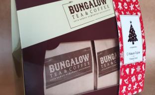 Коробка Подарочный набор Bungalow с декором к Новому году