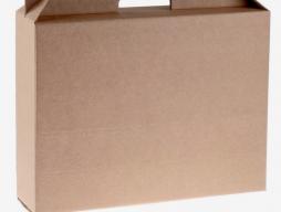 Коробка универсальная с ручкой, бурая (4145136)