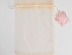 Мешочек подарочный органза  бежевый «Для тебя», с шильдиком (5374819)